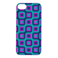 Blue Purple Squares Pattern Apple Iphone 5s Hardshell Case by LalyLauraFLM