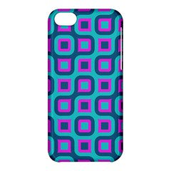 Blue Purple Squares Pattern Apple Iphone 5c Hardshell Case by LalyLauraFLM