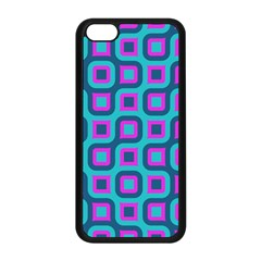 Blue Purple Squares Pattern Apple Iphone 5c Seamless Case (black) by LalyLauraFLM