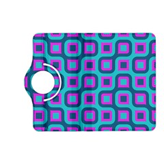 Blue Purple Squares Pattern Kindle Fire Hd (2013) Flip 360 Case by LalyLauraFLM
