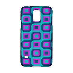 Blue Purple Squares Pattern Samsung Galaxy S5 Hardshell Case  by LalyLauraFLM