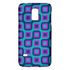 Blue Purple Squares Pattern Samsung Galaxy S5 Mini Hardshell Case  by LalyLauraFLM
