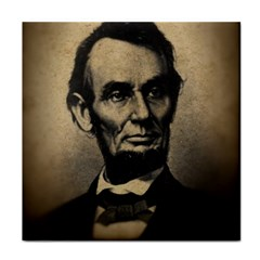 Vintage Civil War Era Lincoln Ceramic Tile by bloomingvinedesign