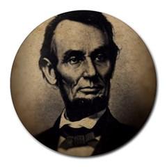 Vintage Civil War Era Lincoln 8  Mouse Pad (round)