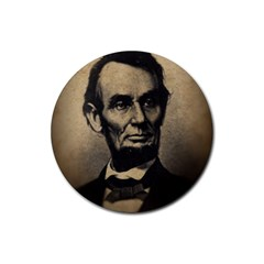 Vintage Civil War Era Lincoln Drink Coaster (round)
