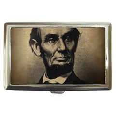 Vintage Civil War Era Lincoln Cigarette Money Case by bloomingvinedesign