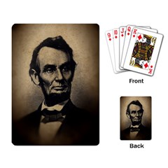 Vintage Civil War Era Lincoln Playing Cards Single Design by bloomingvinedesign