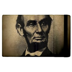 Vintage Civil War Era Lincoln Apple Ipad 3/4 Flip Case by bloomingvinedesign