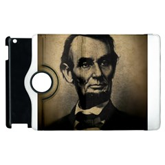 Vintage Civil War Era Lincoln Apple Ipad 3/4 Flip 360 Case by bloomingvinedesign