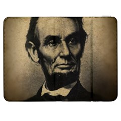 Vintage Civil War Era Lincoln Samsung Galaxy Tab 7  P1000 Flip Case by bloomingvinedesign
