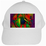 Rainbow Purple Cats White Baseball Cap