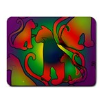 Rainbow Purple Cats Small Mouse Pad (Rectangle)