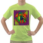 Rainbow Purple Cats Men s T-shirt (Green)
