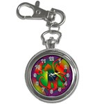 Rainbow Purple Cats Key Chain Watch