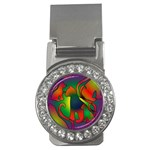 Rainbow Purple Cats Money Clip (CZ)