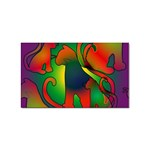 Rainbow Purple Cats Sticker (Rectangle)