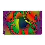 Rainbow Purple Cats Magnet (Rectangular)