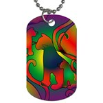 Rainbow Purple Cats Dog Tag (One Sided)