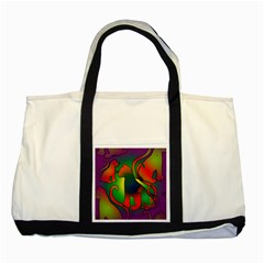 Rainbow Purple Cats Two Toned Tote Bag by bloomingvinedesign