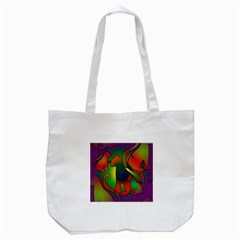 Rainbow Purple Cats Tote Bag (white) by bloomingvinedesign