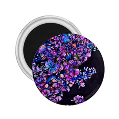 Abstract Lilacs 2 25  Button Magnet by bloomingvinedesign