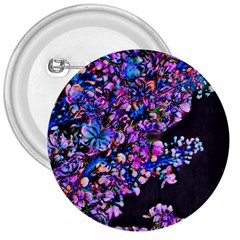 Abstract Lilacs 3  Button by bloomingvinedesign