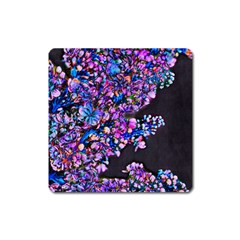 Abstract Lilacs Magnet (square) by bloomingvinedesign