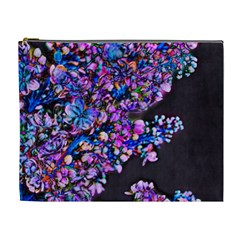 Abstract Lilacs Cosmetic Bag (xl) by bloomingvinedesign