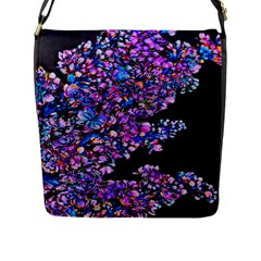 Abstract Lilacs Flap Closure Messenger Bag (large) by bloomingvinedesign