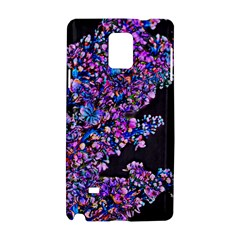 Abstract Lilacs Samsung Galaxy Note 4 Hardshell Case by bloomingvinedesign