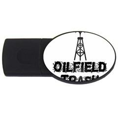 Oilfield Trash 4gb Usb Flash Drive (oval) by oilfield