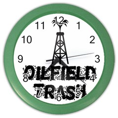 Oilfield Trash Wall Clock (Color) by oilfield