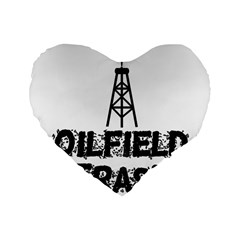 Oilfield Trash 16  Premium Flano Heart Shape Cushion