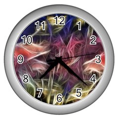 Abstract Of A Cold Sunset Wall Clock (silver)