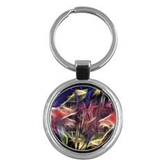 Abstract Of A Cold Sunset Key Chain (round)