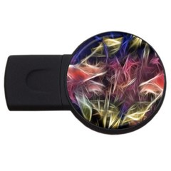 Abstract Of A Cold Sunset 2gb Usb Flash Drive (round) by bloomingvinedesign