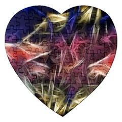 Abstract Of A Cold Sunset Jigsaw Puzzle (heart)