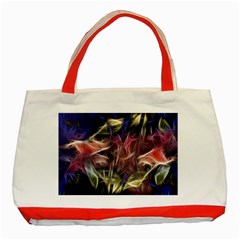Abstract Of A Cold Sunset Classic Tote Bag (red) by bloomingvinedesign