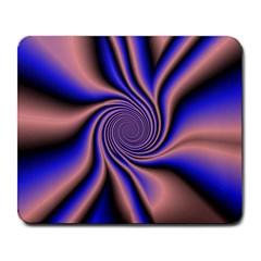 Purple Blue Swirl Large Mousepad by LalyLauraFLM