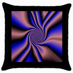 Purple Blue Swirl Throw Pillow Case (black) by LalyLauraFLM