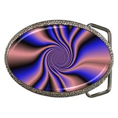 Purple Blue Swirl Belt Buckle by LalyLauraFLM