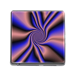 Purple Blue Swirl Memory Card Reader With Storage (square) by LalyLauraFLM