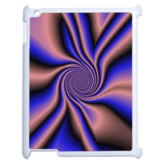 Purple Blue Swirl Apple Ipad 2 Case (white) by LalyLauraFLM