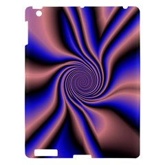 Purple Blue Swirl Apple Ipad 3/4 Hardshell Case by LalyLauraFLM