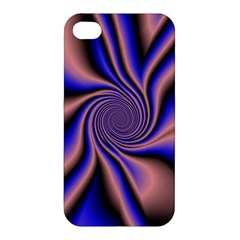 Purple Blue Swirl Apple Iphone 4/4s Premium Hardshell Case by LalyLauraFLM