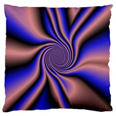 Purple Blue Swirl Large Cushion Case (two Sides) by LalyLauraFLM