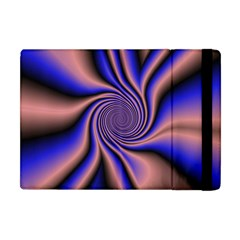 Purple Blue Swirl Apple Ipad Mini Flip Case by LalyLauraFLM