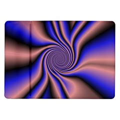 Purple Blue Swirl Samsung Galaxy Tab 10 1  P7500 Flip Case by LalyLauraFLM