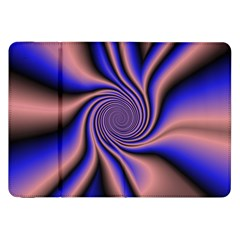 Purple Blue Swirl Samsung Galaxy Tab 8 9  P7300 Flip Case by LalyLauraFLM