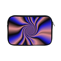 Purple Blue Swirl Apple Ipad Mini Zipper Case by LalyLauraFLM